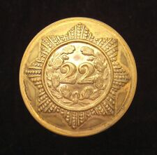 22nd (Cheshire) Regiment of Foot 1855-1881 Officers large Gilt button