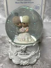 """Precious Moments """"To Have & To Hold"""" #143101 Musical Water Globe Wedding Gift"""