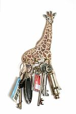 Giraffe Design Wall Hanging Wooden Key Rack 3 Hooks  Made in UK Ideal Gift