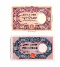 Italia 2 Banconote: 500 lire BARBETTI GrandeC medusa e Testi (Riproduzione/copy)