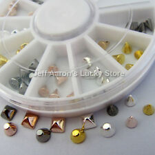 3d metal nail art decoration nail supplies glitter rhinestones studs spike wheel