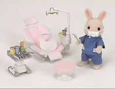 SYLVANIAN FAMILIES JP H-14 RABBIT FATHER & DENTIST / CLINIC HOSPITAL SET EP21540