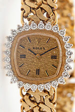 Vintage $15,000 2ct VS G Diamond 14k Yellow Gold ROLEX Ladies Watch & BOX & WRTY
