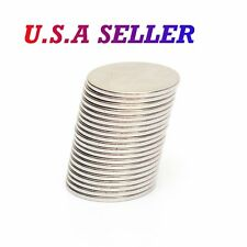25pcs N50 Grade 15mm x 1 mm Strong Small Round Disc Rare Earth Neodymium Magnets