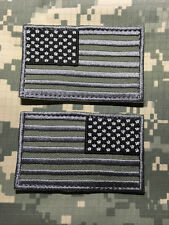 USA AMERICAN FLAG LEFT RIGHT ARMY SHOULDER ACU DARK w/HOOK FASTENER PATCHES