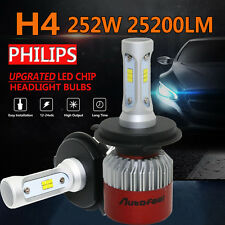 2X 252W H4 25200LM LED Work Lamps Headlight Bulbs Kit Low High Beam Driving Boat
