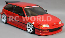 1/10 RC Car Body Shell HONDA CIVIC HatchBack EF9 Drift  W/ Light Buckets