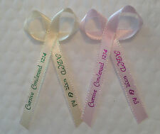 100 Personalized Printed Ribbons for Wedding/Favor