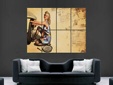 PIN UP RETRO SEXY GIRL ART WALL PICTURE POSTER  GIANT HUGE
