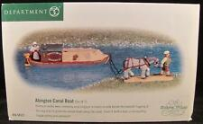 Dept 56 Dickens Village Abington Canal Boat Set of 2 #58522