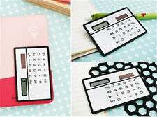 Mini Slim Credit Card Solar Power Pocket Calculator Novelty Small Travel O