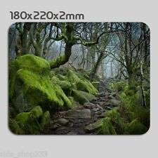 Landscape scenery Green Rock Path  Anti slip COMPUTER MOUSE PAD 9 X 7inch