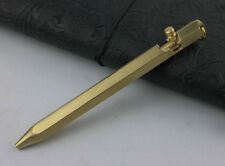 EDC Handmade Tactical Self Defense Pen Brass Rifle Casing Ball Point(Great Gift)