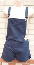 PRIMARK NAVY BLUE DENIM DUNGAREES SUMMER DUNGAREE PLAYSUIT ALL IN ONE 10 S