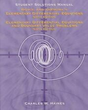 Elementary Differential Equations: Student Solutions Manual