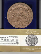Israel - Jerusalem 3000 years CITY OF KING DAVID STATE MEDAL 70mm 140g BRONZE