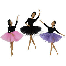Fashion Royalty Black Ballet Lace Dress Outfit Costume Clothes For Barbie Dolls
