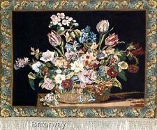 Tapestry Wall Hanging Art Italian Style Still Life Floral Flowers Large