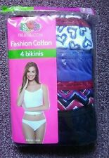 4 Pack FRUIT OF THE LOOM Womens Underwear Size 7  Bikinis.
