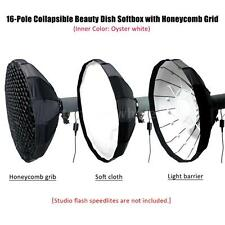 60CM Collapsible Beauty Dish Softbox Diffuser with Honeycomb Grid Bowens Mount