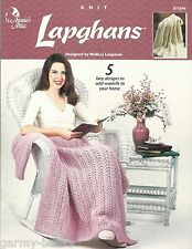 Lapghans Melissa Leapman Knit Afghans Lacy Patterns Annie's Attic 872694 NEW