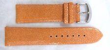 Millage Genuine Stingray Leather Orange Watch Strap 21mm/Monterey Collection