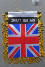 "Great Britain Flag, Mini Banner For Car , 4""x 6"", Suction Cup, Window,Rear/Front"