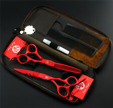 5.5 or 6.0 inch Hairdressing Scissors Barber Salon Cutting & Thinning Shears Set