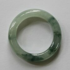 Size 9 1/4 ** CERTIFIED Natural Grade (A) Icy Green Jadeite JADE Ring #R135