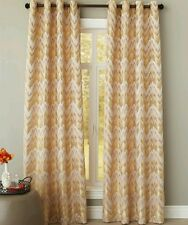 Pier 1 Imports Ikat Chevron Coral Gold Beige Window Panel 50 X 84 Drape