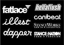 illest fatlace dapper stanceworks hellaflush stancenation sticker pack - vw jdm