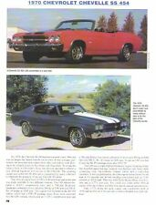 1970 Chevelle SS454 Article - Must See !!