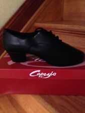 "NWB Men's Capezio Black  LATIN BALLROOM Shoes - 2"" CUBAN HEEL Size 9.5 W"