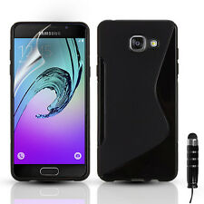 SLIM SILICONE GEL CASE COVER & SCREEN PROTECTOR FOR SAMSUNG GALAXY A3 A5 (2016)