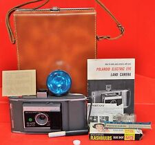 Vintage Polaroid Folding Land Camera J66 W/ Maunal & Flash