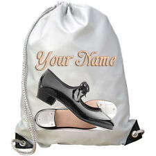 TAP DANCE SHOES PERSONALISED GYM / SWIMMING / PE BAG - CHILDS / KIDS NAMED GIFT