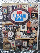 1987 MLB ALL-STAR GAME PROGRAM Glossy Copy with Tight Spine Vintage Babe Ruth