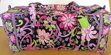 VERA BRADLEY XL LARGE DUFFEL PURPLE PUNCH - NEW WITH TAG