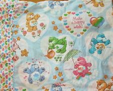 Vintage 1982 Classic Care Bears Bed Canopy 60x87 Make A Wish Craft Material HTF