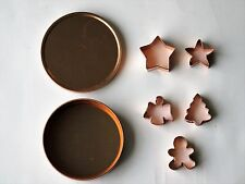 5-Piece Mini Christmas Cookie Cutter Set - Star, Angel, Tree, Gingerbread Man