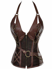 Plus Size Lingerie 6X Vegan Leather Steampunk Corset SEXY Vintage Fetish Bustier