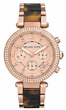 Michael Kors Women's mk5538 Golden-animal print tone Chronograph Watch.NEW
