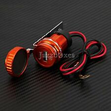 Motorcycle 12V Red USB Charger for Yamaha Raider Stratoliner Roadliner Vmax