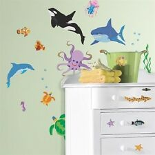 OCEAN wall stickers 46 decals beach sea shark whale turtle dolphins fish octopus