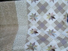 "Vintage French Boutis style Quilted Bed Cover 98"" x 97"" Reversable"