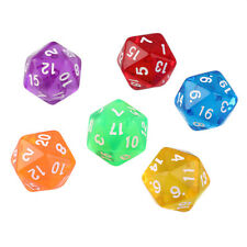 6pcs/Set Games Multi Sides Dice D20 Gaming Dices Game Playing Mixed Color QT