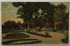 Antique Postcard early 1900s City Park Fort Worth Texas Horse Buggy TX PC