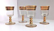 GOLD ENAMEL Hand Painted LIQUOR GLASSES