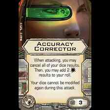 Star Wars X-wing Miniatures ACCURACY CORRECTOR Systems upgrade card