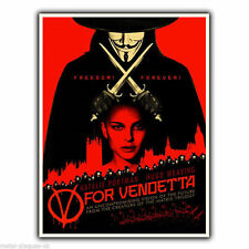 METAL SIGN WALL PLAQUE V For Vendetta Film Movie Advert Poster picture art print